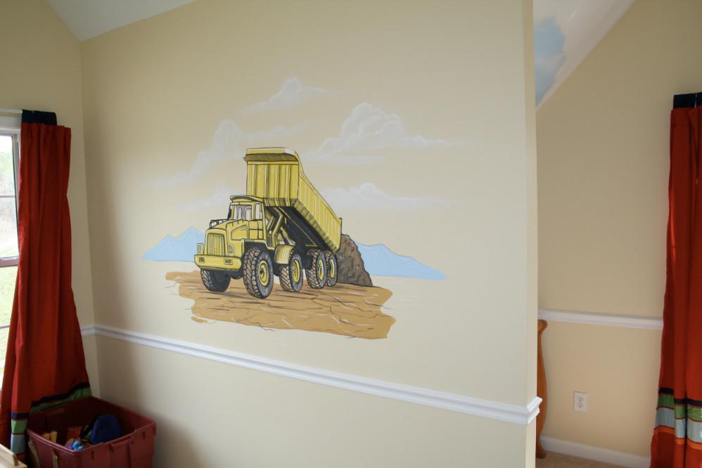 Cars, Planes, Motorcycle Mural